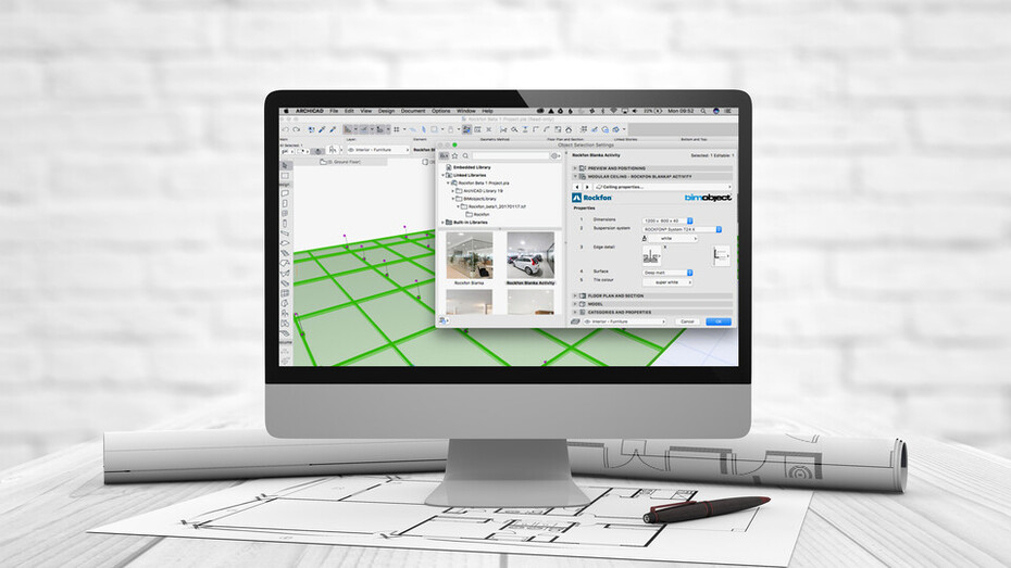 news article, bim library, bim objects, rockfon