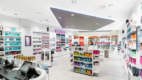 Sørlandssenteret, Norway, Kristiansand, LPO Arkitekter, Veidekke, Thon gruppen AS, Bico Bygg og Innredninger, Erik Burås, CMC 2800, Rockfon System T24 A/E, White, Tropic, A-edge, 600 x 600 x 15